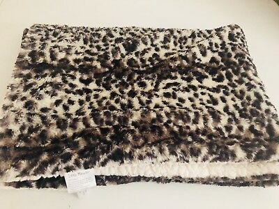 Little Miracles Leopard Cat Animal Print Fluffy Sherpa Baby Blanket