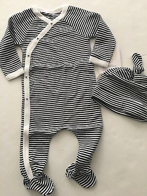 94c21b66eeeb BURTS BEES BABY Boy Girl Coverall Pajamas Size 3 6 12 18 24 Months ...