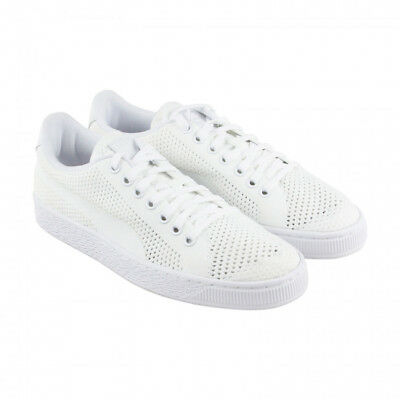 d976ce969dc NEW - PUMA Men s BASKET CLASSIC EVOKNIT 36318004 White LACE UP SHOES - 10    43
