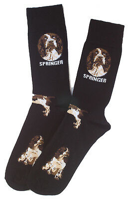 Springer Spaniel Breed of Dog Comfortable Well Made Socks in Black Perfect Gift