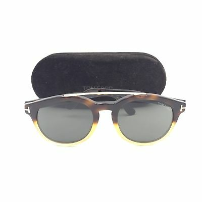 b8c870f853 TOM FORD NEWMAN TF515 56N Square Havana Beige Frame w  Green Lenses 53mm