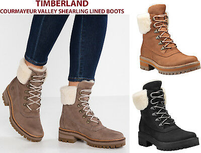 6083a57076d WOMENS TIMBERLAND 6 In COURMAYEUR VALLEY SHEARLING BOOTS New Authentic