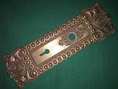Antique Cast Bronze Door Plate / Escutcheon