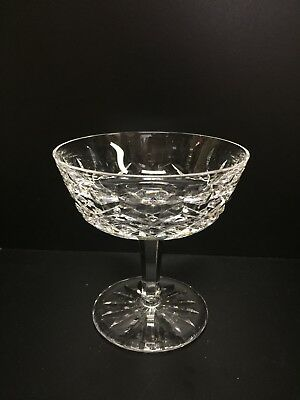 """WATERFORD CRYSTAL LISMORE CHAMPAGNE SAUCER OR SHERBET, 4-1/8"""" Tall"""