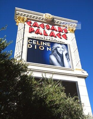 CELINE DION CAESARS PALACE CASINO Las Vegas PHOTO Marquee Sign 8x10