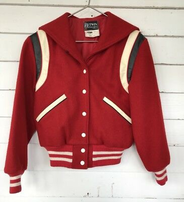 Butwin Wool Res Varsity Vintage 80s Jacket G-eazy Costume Kids 10 Retro