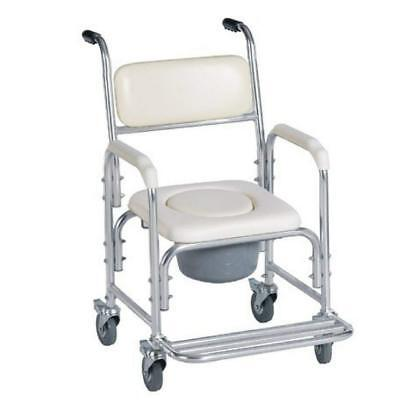 HEALTHLINE Shower Bedside Commode Chair Padded Seat