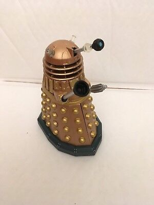 "5"" Dr Doctor Who Golden Dalek Action Figure Bbc Series - Complete"