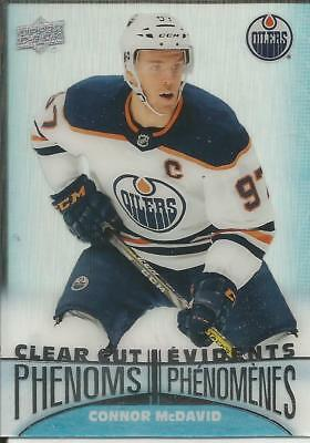CONNOR McDAVID 2018/19 TimHortons Clear Cut Phenoms   NM/MINT !!!!