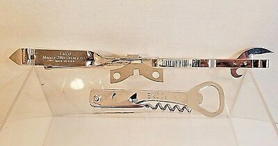 3 VTG Ekco Metal Manual Can / Bottle Openers - Miracle 3 Way Opener - Corkscrew