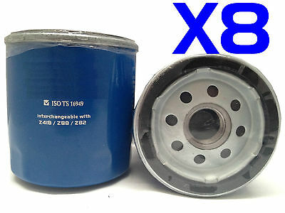 8X Oil Filter Suits Ryco Z418 HOLDEN TOYOTA Avalon Camry Hiace Hilux Landcruiser
