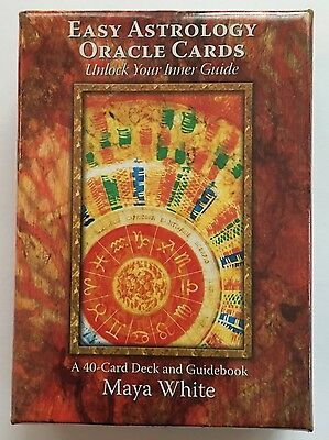 New & Sealed Easy Astrology Oracle Cards By Maya White 4O Card Deck. *rare*