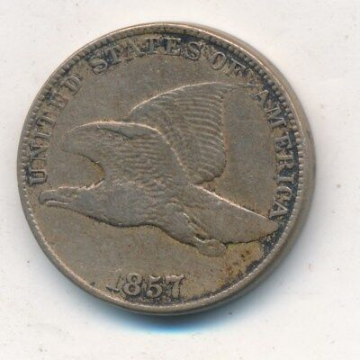 1857 Flying Eagle Cent-Very Nice Circulated Early Small Cent-Ships Free! Inv:1