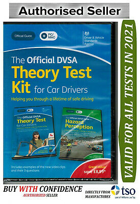 Official DVSA Theory Test Kit 2019 Edition for Car Drivers Driving Test 'Kit Dvd