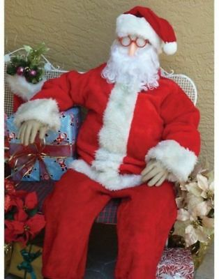 Stuffed Dummy Halloween Prop Set Poseable Dummy 6 Tall Life Size for Santa or