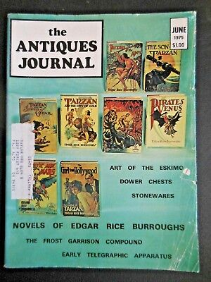 Antiques Journal 1975 Edgar Rice Burroughs Novels Telegraph Collectibles Devices