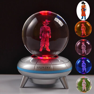 Dragon Ball Z Son Goku 3D LED Crystal Night Light Table Lamp USB Xmas Gift
