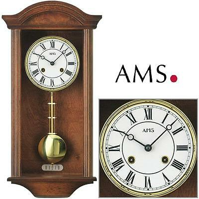 Ams 614/1 Regulator Pendulum Clock Case Walnut Color 4/4 Westminster Wall Clock