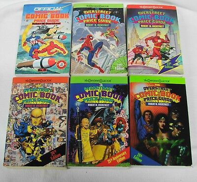 OVERSTREET COMIC BOOK PRICE GUIDES lot of 6-Edition #21, 22, 23, 24, 25, 26