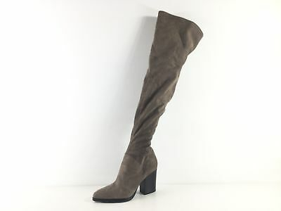 6ecad24c6c7 M25 NEW Marc Fisher Arrine Greybrown Suede Over The Knee Boots Women Size  8.5 M