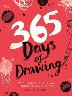 NEW 365 Days of Drawing By Lorna Scobie Flexi Bound Book Free Shipping