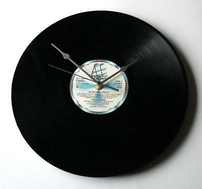 "STEVIE WONDER CLOCK made from recycled vinyl record 12"" album ""In Square Circle"""