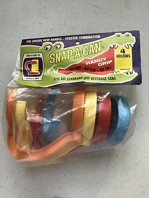 Vintage Snap-A-Can Handles/Coasters; Set of 4; New in Package!
