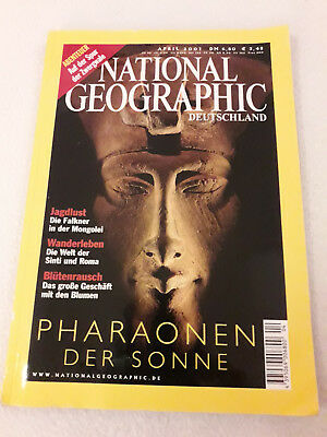 National Geographic Deutschland April 2001 Pharaonen, Zwergwale, Falkner, Roma