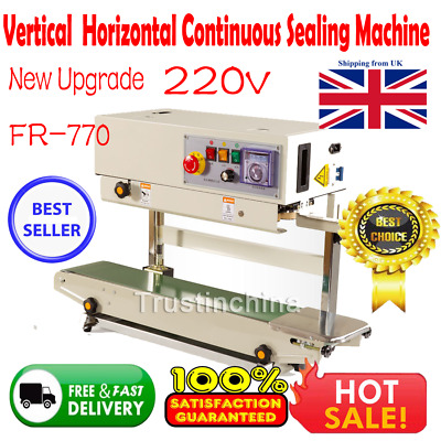 New FR-770 Continuous Band Sealer Horizontal Bag Sealing Machine in UK fast ship