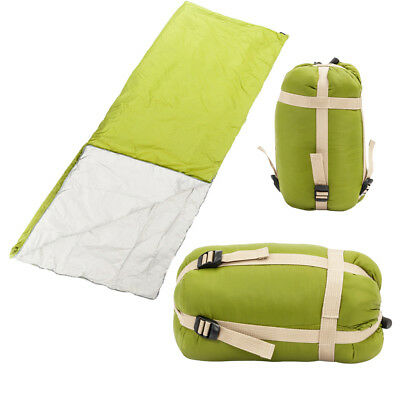 New Outdoor Envelope Sleeping Bag  Camping Hiking With Carrying Case Olive Green