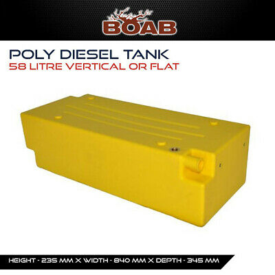 Poly Diesel Tank 58L Litre Vertical or Flat Fuel Offroad 4X4 4WD Touring