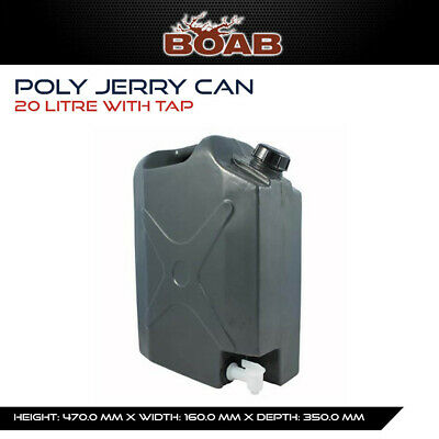 Poly 20 Lt Jerry Can with Tap Tank 4WD Offroad Camping Touring 4WD Caravan