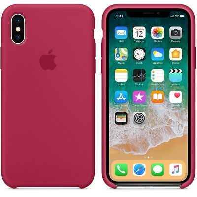 ROSE RED GENUINE ORIGINAL Apple Silicone Case NEW iPhone X RRP $39