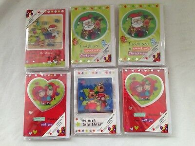 24 x 4 pk Lenticur Christmas cards people prefer real cards 4 designs gr8 4 kids