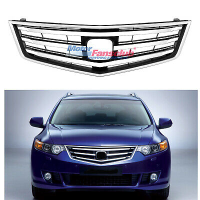 Acura Tsx 04 05 Grille Grill Whole Pc With Oem Emblem Chrome