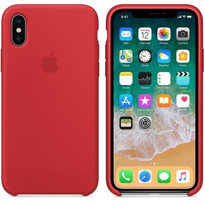 RED GENUINE OFFICIAL ORIGINAL Apple Silicon Case iPhone X SEALED RRP $39