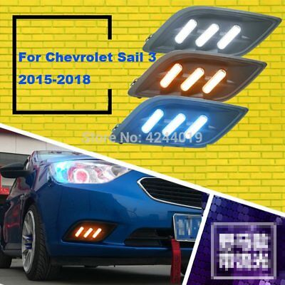 For Chevrolet Sail 2015-2018 Day Light Fog Lights Fog Lamps LED Driving Light