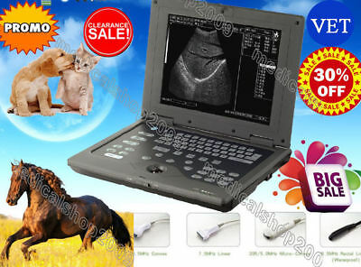 New VET Veterinary Portable laptop ultrasound scanner system 6.5mhz Rectal probe