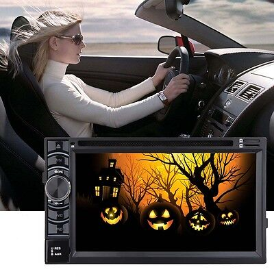 """Double 2 Din 6.2"""" In Dash Stereo Car DVD CD Player Bluetooth Radio SD/USB TV MP3"""