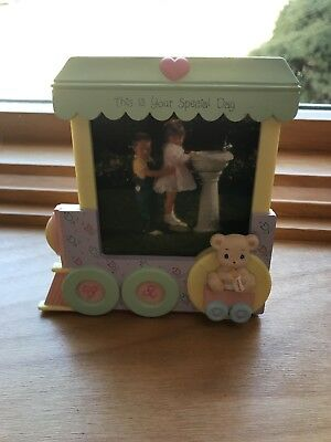 New! PRECIOUS MOMENTS VINTAGE PICTURE FRAME TRAIN BY ENESCO 1991 - VERY RARE