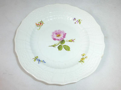 Plate with Flower Painting Meissen Knauf Time around 1880