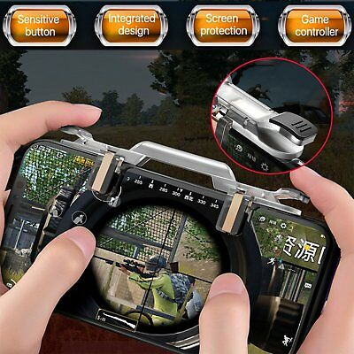 ROCK Mobile Phone Gamepad Controller Gaming Trigger Shooter Fire Button Key PUBG