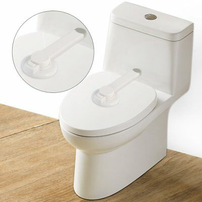Adhesive Children Baby Safety Lock Catch for Toilet Seat Toilet Lid Lock 2PCS