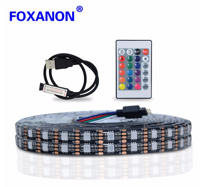 USB RGB LED Strip light 2835 5050 SMD PC TV Background lighting Decor 1M-5M DC5V