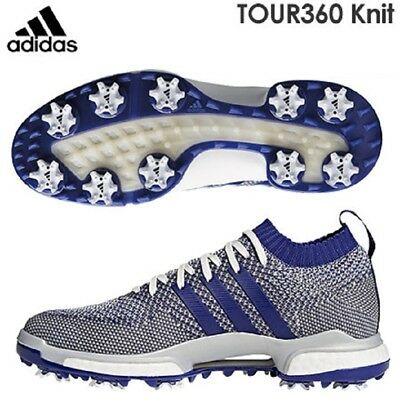 5bbb69ab7 New 2018 Men s Adidas Tour360 Knit Golf Shoes F33631 Grey Purple White Sz 9  Med