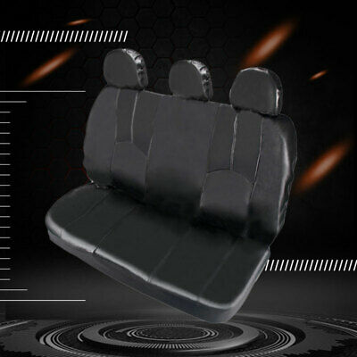 Universal Car Pickup Bench Seat Protector Covers Headrest Saddle Blanket Black