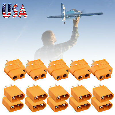 10 pair Male & Female XT60 Bullet Connectors Plugs For RC Battery High Quality