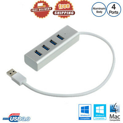 High Super Speed USB 3.0 Aluminum Hub 4 Port Adapter Cable 5Gbps For PC Laptop