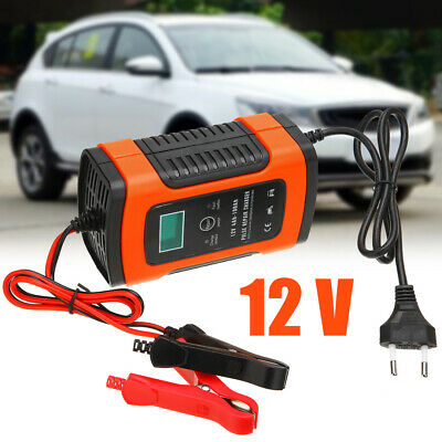 12V 5A LED Pulse Repair Battery Charger For Car Motorcycle AGM GEL WET Lead Acid
