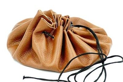 Reenactment-Gaming-Leather-BUSHCRAFT-TINDER-POSSIBLES-DRAWSTRING POUCH BAG